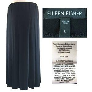 EILEEN FISHER Washable Silk Pleated Maxi Skirt